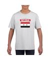 T shirt met syrische vlag wit kinderen
