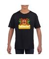 T shirt zwart voor kinderen met browny de beer