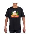 T shirt zwart voor kinderen met lammy het schaapje