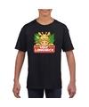 T shirt zwart voor kinderen met lilly longneck de giraffe