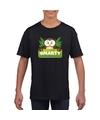 T shirt zwart voor kinderen met smarty de uil