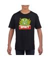 T shirt zwart voor kinderen met spiky de dinosaurus