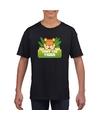 T shirt zwart voor kinderen met tony the tiger