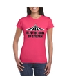 Toppers t shirt roze op stelten dames