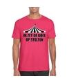 Toppers t shirt roze op stelten heren