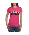 Toppers t shirt roze topper dames