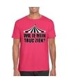Toppers t shirt roze truc zien heren