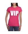 Vip tekst t shirt roze dames