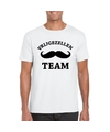 Vrijgezellenfeest team t shirt wit heren