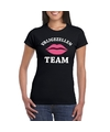 Vrijgezellenfeest team t shirt zwart dames