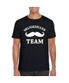 Vrijgezellenfeest team t shirt zwart heren