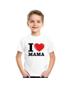 Wit i love mama t shirt kinderen
