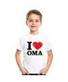 Wit i love oma t shirt kinderen