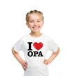 Wit i love opa t shirt kinderen