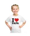 Wit i love papa t shirt kinderen