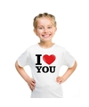 Wit i love you t shirt kinderen