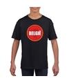 Zwart belgie shirt met duivel in cirkel shirt kinderen