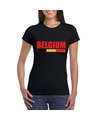 Zwart belgium supporter shirt dames