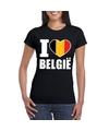 Zwart i love belgie shirt dames