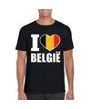 Zwart i love belgie shirt heren