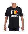 Zwart i love belgie shirt kinderen