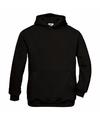 Zwarte katoenmix sweater met capuchon voor meisjes